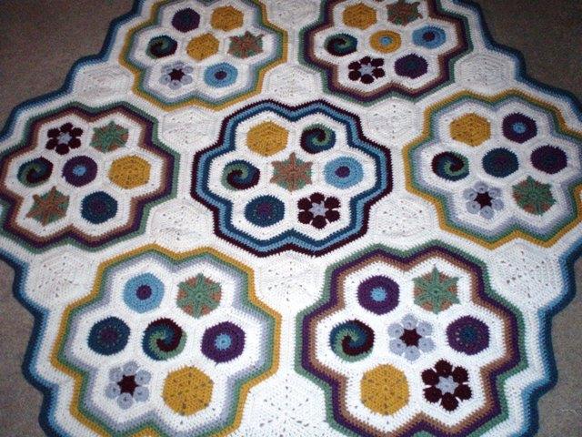 Raffle 31 Crocheted Hexagon Motif Afghan Weetacon Mobile